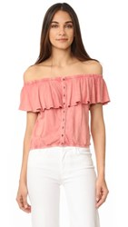 Free People Love Letter Tube Top Coral