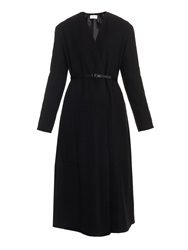 Lemaire Belted Wrap Front Wool Coat