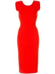 Ginger And Smart Valour Fitted Knit Dress Red