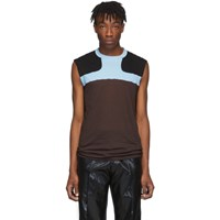 Rick Owens Burgundy And Blue Release Combo Lupetto Tank Top