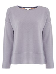 White Stuff Mineral Textured Jersey Top Grey