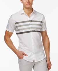 Inc International Concepts Classic Fit Stripe Shirt Only At Macy's