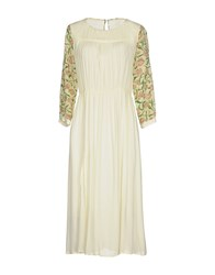Attic And Barn Knee Length Dresses Ivory