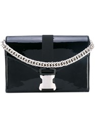 Christopher Kane Large Patent Devine Shoulder Bag Black