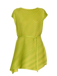 Issey Miyake Bi Colour Pleated Dress Green