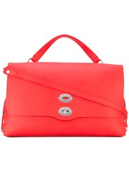 Zanellato Studded Satchel Women Calf Leather One Size Red