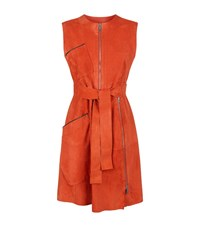Sportmax Macao Suede Belted Dress Female Red