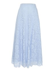 Ivy And Oak Lace A Line Midi Skirt Blue