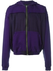 Haider Ackermann Zipped Hoodie Pink Purple