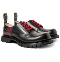 Gucci Arley Leather Derby Shoes Black