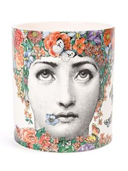 Fornasetti Fior Di Lina Candle Unisex Wax Porcelain One Size White