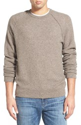 Men's James Perse Thermal Cashmere Sweater Taupe Melange