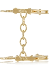 Jennifer Fisher Handcuff Gold Plated Cuff