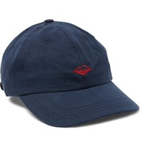 Battenwear Embroidered Cotton Twill Baseball Cap Navy