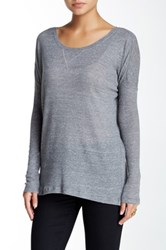Bcbgeneration Basic Long Sleeve Thermal Tee Gray