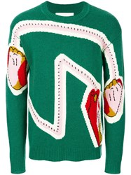 Henrik Vibskov Hands On Knit Jumper Green