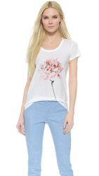 Tess Giberson Tee With Rose Print