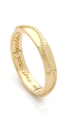 Monica Rich Kosann Suppose You Love Me Beading Ring Gold