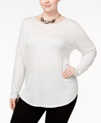 Celebrity Pink Plus Size Strappy Back Top Heather Grey Ash