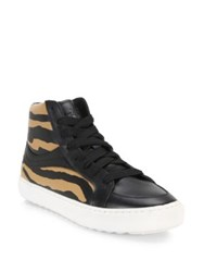 Coach Animal Print High Top Sneakers Multi Orange