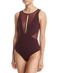Jets By Jessika Allen Aspire High Neck One Piece Swimsuit Purple