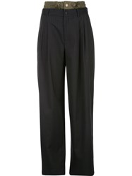 Monse Combined Striped Trousers 60