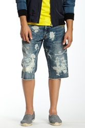 Prps Bleached Distressed Denim Short Blue