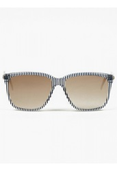 Sheriffandcherry G12 Blue Striped Sunglasses