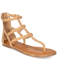 American Rag Madora Braided Gladiator Flat Sandals Only At Macy's Women's Shoes Light Natural