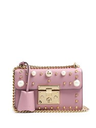Gucci Padlock Studded Leather Shoulder Bag Light Pink
