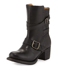 Frye Vera Strappy Leather Boot Black