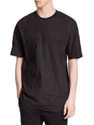 3.1 Phillip Lim Paneled Dolman Sleeve Cotton Tee Black