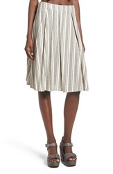 Women's Glamorous Stripe Pleat Midi Skirt
