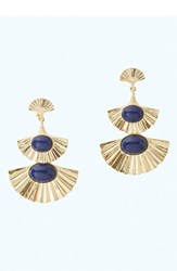 Lilly Pulitzer Coastal Shell Clip On Drop Earrings Gold Metallic