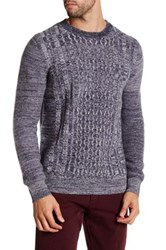 Barque Marled Cable Knit Sweater Blue