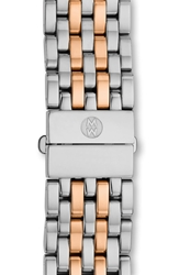 Michele 'Serein 16' 16Mm Watch Bracelet Silver Rose Gold