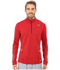 Puma Nightcat Power Warm Long Sleeve Top Scooter Men's Long Sleeve Pullover Red