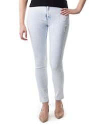 Dittos Kelly High Waist Destroyed Jeggings Blue