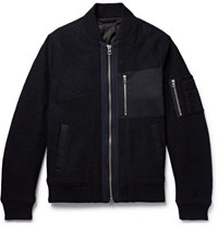 Gant Rugger Wool Bomber Jacket Midnight Blue