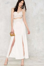 Nasty Gal Sweetheart Beat Lace Dress White