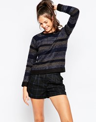 Eleven Paris Stripe Jumper Black