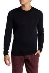 Reigning Champ Lightweight Powderdry Long Sleeve Crew Neck Tee Black