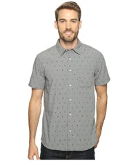 The North Face Short Sleeve Pursuit Shirt Zinc Grey Uncharted Print Men's Short Sleeve Button Up Gray