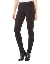 Bcbgmaxazria Bobby Side Snap Fitted Leggings Black