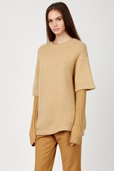 Opening Ceremony Double Layer Oversized Crewneck Nude