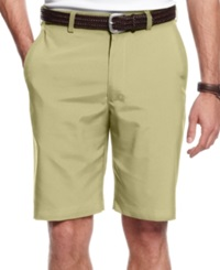 Pga Tour Flat Front Performance Shorts With Upf 50 Silver Mink
