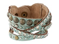 Leather Rock B513 Turquoise Bracelet Blue