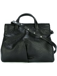 Marsell Popper Fastening Sides Tote Black