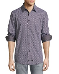 English Laundry Diamond Print Sport Shirt Black