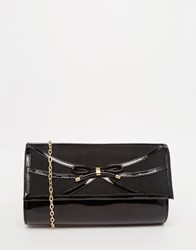 Lotus Clutch Bag With Bow Blackshiny